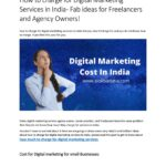 How to charge for Digital Marketing Services in India
